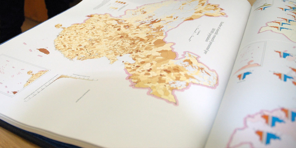 Photograph of a book of maps