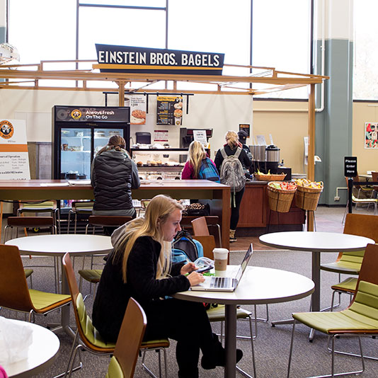 einstein brothers bagels in milner library